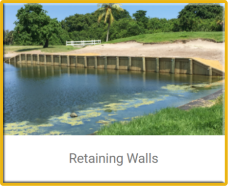 erosion restoration,retaining walls
